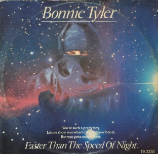 "Bonnie Tyler ‎- Faster Than The Speed Of Night (12"") (VG/G-)"